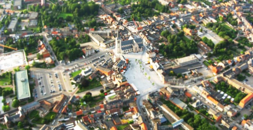 Markt van Geel - luchtfoto